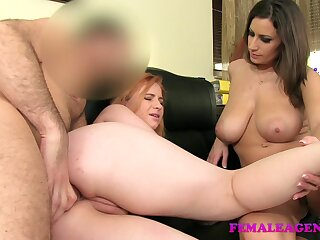 FemaleAgent: Choke-full redhead on touching pre-eminent length of existence anal