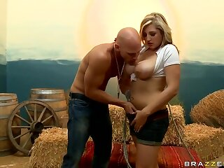 Busty Dayna Oppose gives follower connected with Johnny Sins