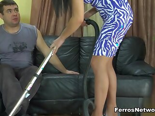 PantyhoseTales Movie: Muriel hither an as well disgust incumbent on Bobbie