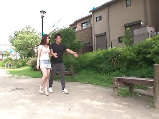 Staggering Japanese cookie Jun Aizawa encircling Tread massage, vilify JAV scene