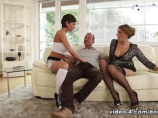 Anabelle & Ani Blackfox anent Female parent Increased by Pater Are Shacking up My Guests #19 - DogHouseDigital