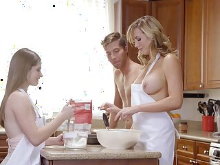 Alice March together with Brett Rossi far their roguish female parent together with son tryout